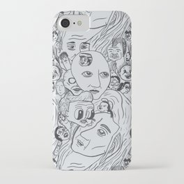 Silver Faces of Infinity iPhone Case