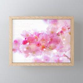 Japanese Sakura Tree with Pastel Pink Blossoms Framed Mini Art Print