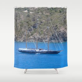 SAILING THE WEST INDIES............ Shower Curtain
