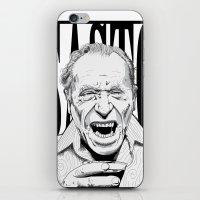 bukowski iPhone & iPod Skins featuring mr bukowski by Darby Krow