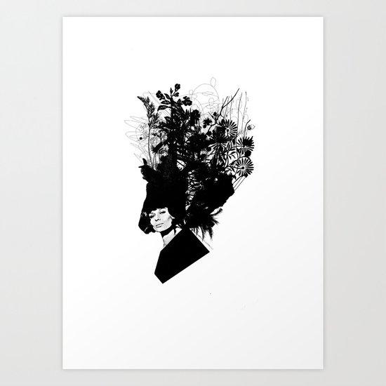 Beautiful Hair IV Art Print