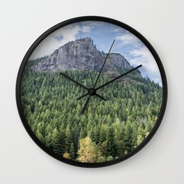 Fall Forest Wall Clock