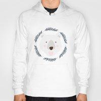 polar bear Hoodies featuring polar bear by Taranta Babu