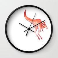 australia Wall Clocks featuring Australia by chacomics