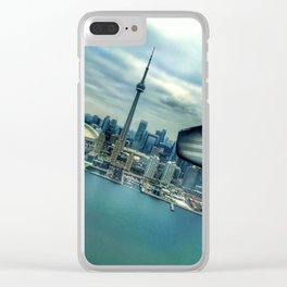 Toronto Skyline from Plane Clear iPhone Case
