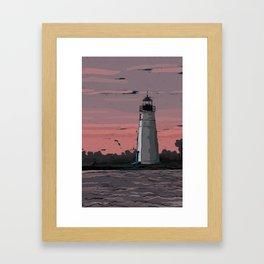 Color by Number Lighthouse Framed Art Print