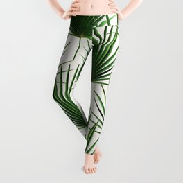 Simple Palm Leaf Geometry Leggings
