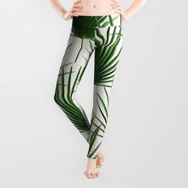 Simple Palm Leaf Geometry Leggings