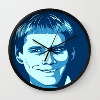 new jersey Wall Clocks featuring New Jersey? by Thirty3