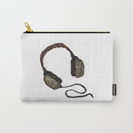 Put Your (Vintage) Headphones On - Abstract Carry-All Pouch