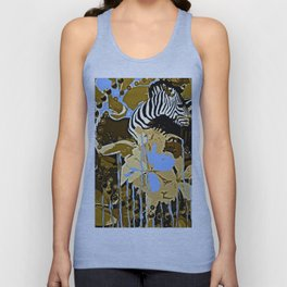 Zebras and Flowers #2 Unisex Tank Top