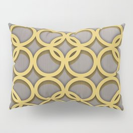 Intertwinning Gold Circles Pillow Sham