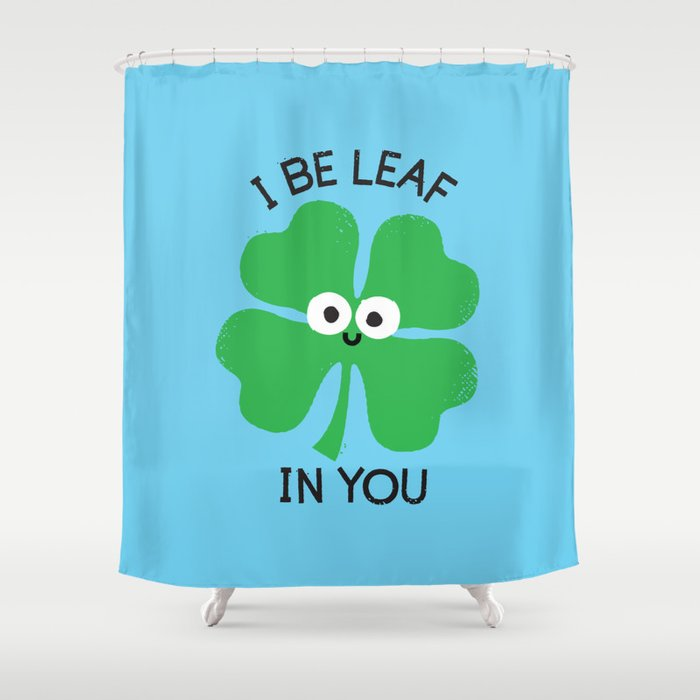 Cloverwhelming Support Shower Curtain