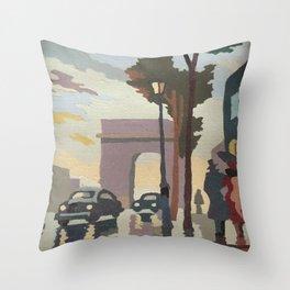 Mother's Paris Throw Pillow