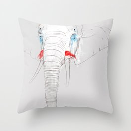 Animalfree circuses - Elephant Throw Pillow