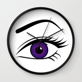 Violet Left Eye Wall Clock