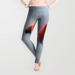 The Pink Flamingo in Watercolor Leggings