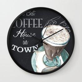 Retro Chalkboard Coffee 2 Wall Clock