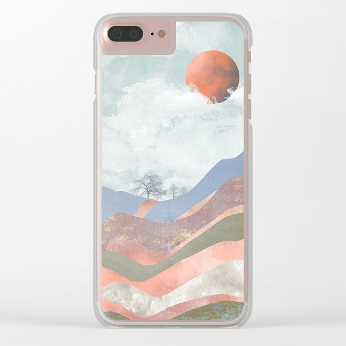 Journey to the Clouds Clear iPhone Case