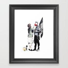 Banksy, Punk with mother Framed Art Print