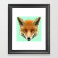 Poly the Fox Framed Art Print