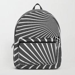 3D Room - White On Black Backpack