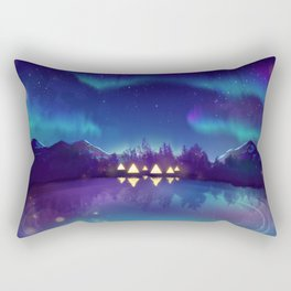 Northern Lights 2 Rectangular Pillow