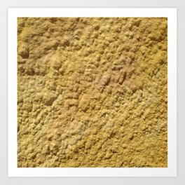 Yellow Cement Wall Art Print