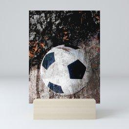 The soccer ball Mini Art Print