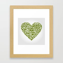 Heart the industry Framed Art Print