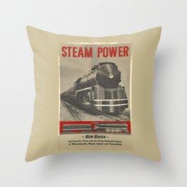 Train vintage Poster Throw Pillow