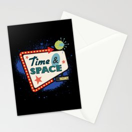 Time & Space motel sign Stationery Cards