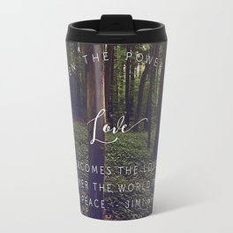 Peace and Love Travel Mug