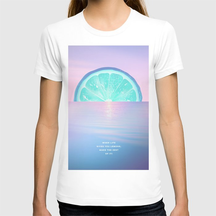 When life gives you lemons - Surreal Lemon Collage Sunset T-shirt