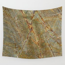 Forest Green Marble Wall Tapestry