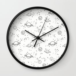 UNIVERSE BLACK AND WHITE Wall Clock