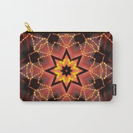 Kaleidoscope fantasy on lights in the shape of a bison! Carry-All Pouch