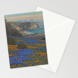 Spring Flowers, Poppies and Lupine, Goleta Point by John Marshall Gamble Stationery Cards