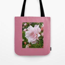 Light Pink Rose Flower Garden Tote Bag