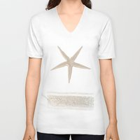 zen V-neck T-shirts featuring Zen by Eva Nev