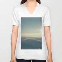 breathe V-neck T-shirts featuring Breathe by jordanwlee.com