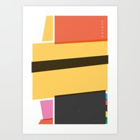 SECRET CYCLING FLAG - MERCKX Art Print