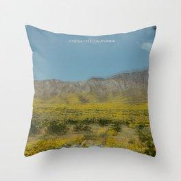 Trippy Joshua Tree super bloom Throw Pillow