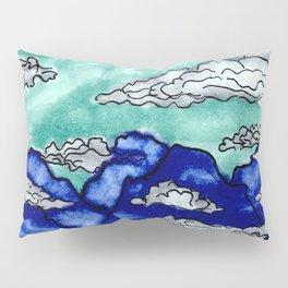 Foggy Mountain Doodle Pillow Sham
