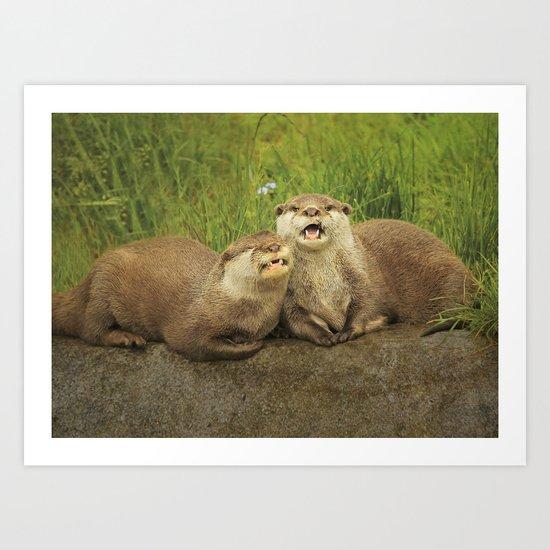 Mr & Mrs Otter Art Print