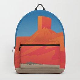 Desert Valley Landscape Scene Backpack
