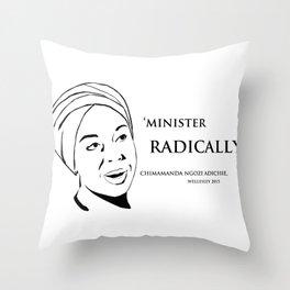 Minister Radically Throw Pillow