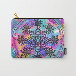 Colors Spash Mandala Carry-All Pouch