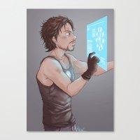 tony stark Canvas Prints featuring Tony Stark by MaliceZ