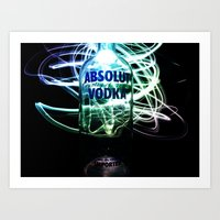 vodka Art Prints featuring Absolut Vodka by Rothko